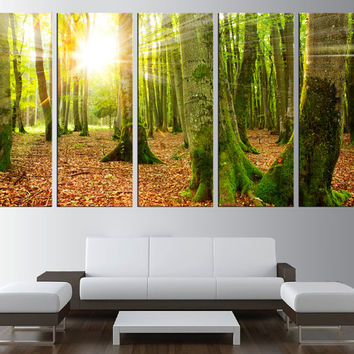 forest wall art canvas, trees canvas wall art, spring trees Large wall Art, large canvas print, extra large wall art, modern wall decor t195