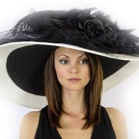 Muse Mel Ladies Kentucky Derby Dress Hat with Flowers and Feathers