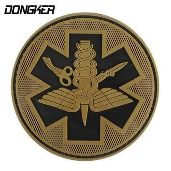 DONGKER Tactical PVC Patches Camping Military Army Armband Backpack Luminous Badges Patch For Hiking Safety Survival Pouch Kit