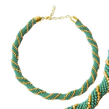 Crochet Rope Bead Necklace