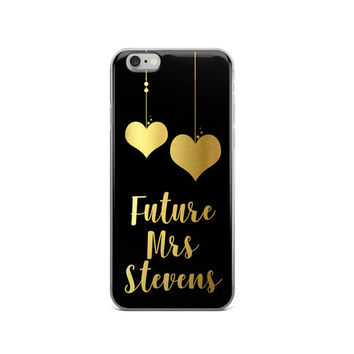 Future Mrs iPhone Case | iPhone 7 Case | Bridal Shower Gift | Engagement Gift | Engagement Phone Case | Gold iPhone 6 Cover  | Black Friday