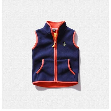 V-TREE Fleece Girls Vest Baby Outerwear Warm Vests For Children Candy Colored Plush Vest Boys Costume Winter Clothes