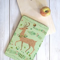 Pimlada Phuapradit Deer and foliage Cutting Board Rectangle