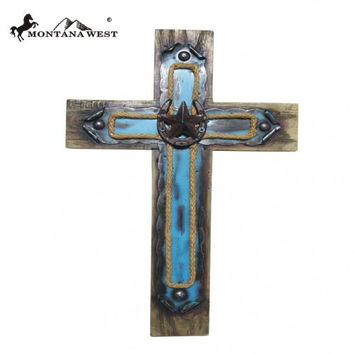 Turquoise and Horseshoe Cross