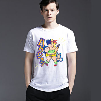 Fashion Round-neck Summer Strong Character Short Sleeve Tee Men's Fashion Cotton Slim T-shirts = 6450142595