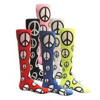 """BIG BOLD' PEACE SIGN SOCKS - Softball socks - Soccer Socks - CrossFit socks"