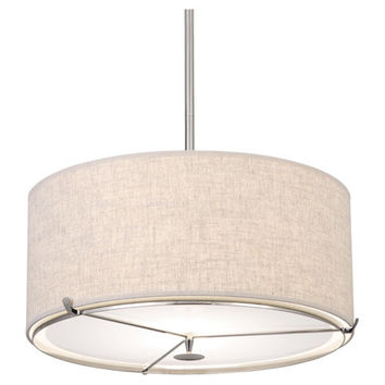 Edwin Collection Pendant in Polished Nickel design by Robert Abbey