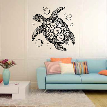 best sea turtle wall decal products on wanelo. Black Bedroom Furniture Sets. Home Design Ideas