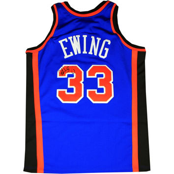 Patrick Ewing Signed Authentic 1996-1997 Mitchell & Ness Blue Jersey