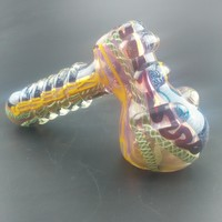 Crystle Hammer Handle Pipes Colorfull Glass bong Water Pipes Steady Bubbler