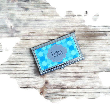 personalized card holder,business card holder, boss gift, first job gift, fathers day gift, stocking stuffer, monogrammed gift, office gift