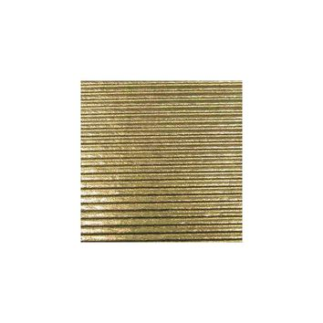 Ribbed Gold Foil Wrapping Paper