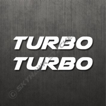 2X Turbo Sticker Vinyl Decal For Honda Civic Turbocharged Car Sticker JDM Sedan