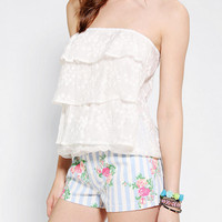 Urban Outfitters - Pins And Needles Ruffle-Tier Strapless Top