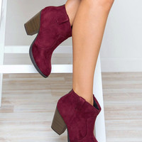 Rebel Booties - Burgundy