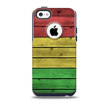 Red, Yellow and Green Wood Planks Skin for the iPhone 5c OtterBox Commuter Case