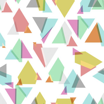 Happy Triangles Removable Wallpaper
