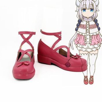 2017 Anime Kobayashi-san Chi no Maid Dragon Cosplay Shoes Kanna Shoes Customize Miss K