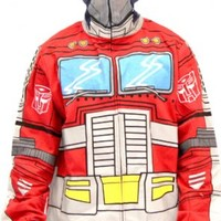 Transformers Optimus Prime Adult Zip Up Costume Hoodie Sweatshirt