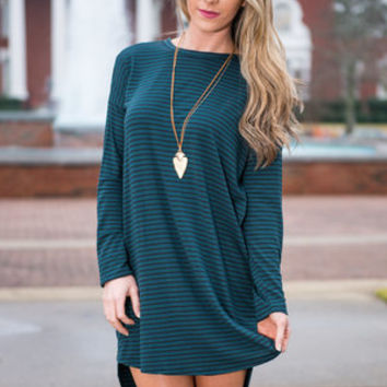 Authentically You Dress, Forest Green
