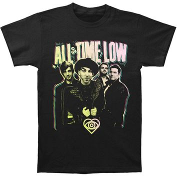 All Time Low Men's  Neon Slim Fit T-shirt Black