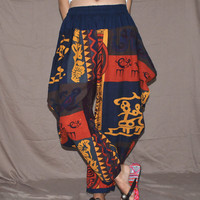 Boho Tribal Pattern Harem Pants