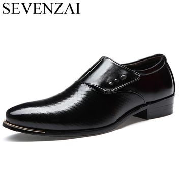 mens pointed toe formal italian leather shoes luxury brand male designer elegant famous retro footwear man oxford shoes for men
