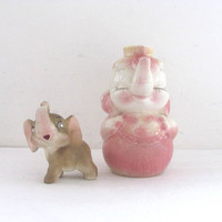 Vintage Elephants / Decanter Vase and figurine