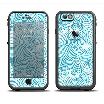 The Seamless Blue Waves Apple iPhone 6 LifeProof Fre Case Skin Set