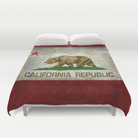 State flag of California Duvet Cover by LonestarDesigns2020 - Flags Designs +