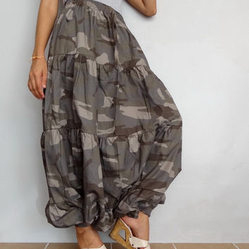 Avant Garde CAMO Harem Pants, Genie Aladdin Unique Unisex Style Boho,Light weight Cotton 100%  (pants-14).
