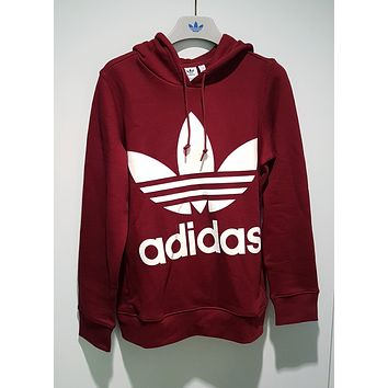 adidas Originals adicolor Trefoil Hoodie In Burgundy