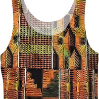 Liquid Kente Clothe Crop Top