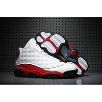 New in Box Air Jordan Retro 13 Chicago Black White True Red Basketball Shoes