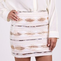 Glimmer Eye Sequin Skirt @ FrockCandy.com