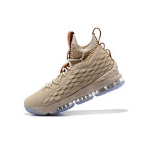 Nike LeBron James Fashion Men Running Sport Casual Shoes Sneakers Champagne I-CSXY
