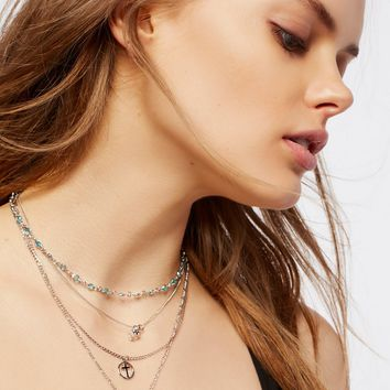 Free People Juliet's Charm Necklace
