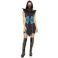 Sexy Venom Studded Assassin Dress with Accessories