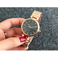 Gucci hit color alphabet men and women fashion watch F-Fushida-8899 Rose Gold + Black Dial