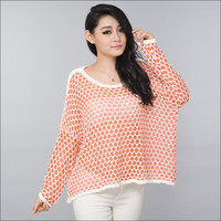 A 091021 Simple hollow short sweater
