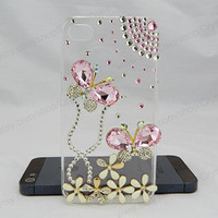 pink bow case iPhone case,bling iphone 6 case,Crystal iphone 6 Plus,Rhinestone iphone 5/5S/5c,iphone 4 case samsung galaxy S3/S4/S5