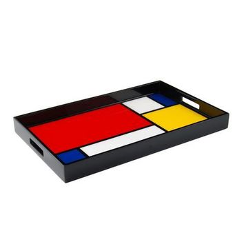 Mondrian Inspired Lacquer Breakfast Tray