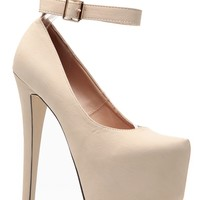 Glaze Nude Sky High Ankle Strap Platform Heels @ Cicihot Heel Shoes online store sales:Stiletto Heel Shoes,High Heel Pumps,Womens High Heel Shoes,Prom Shoes,Summer Shoes,Spring Shoes,Spool Heel,Womens Dress Shoes