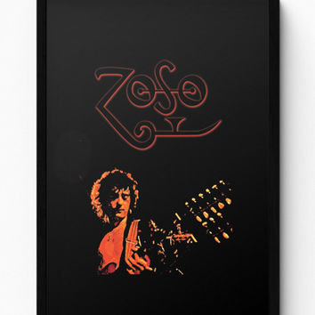 Jimmy Page Led Zeppelin Zoso Inspired Laminated Framed Poster