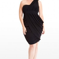 Plus Size Grecian Draped Dress | Fashion To Figure