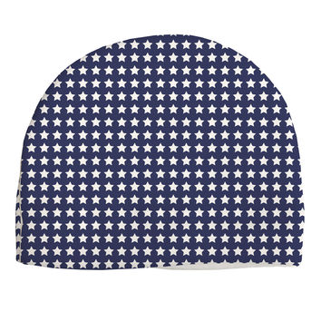 Americana Stars Pattern Adult Fleece Beanie Cap Hat All Over Print