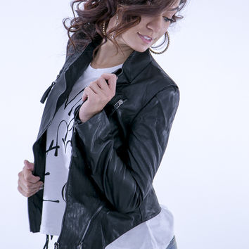 Black Magic Vegan Leather Jacket