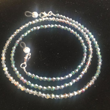Rainbow Crystal Eyeglass Chain