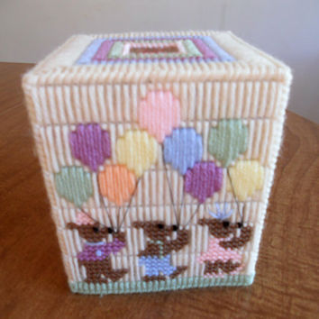 Plastic Canvas Baby Tissue Box Cover