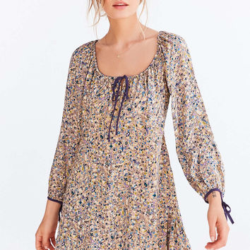 Ecote Tabitha Off-The-Shoulder Balloon-Sleeve Mini Dress - Urban Outfitters